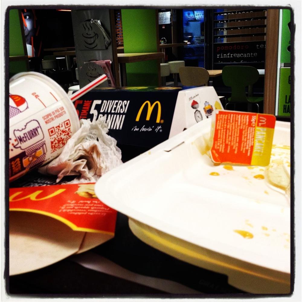 menù american tastes al mc donald per rinfrancare lo spirito dopo la caduta sullo snowboard