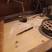 preparare la crostata fatta in casa dopo un giro in mountain bike in valle olona