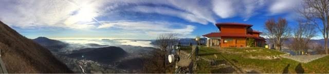Foto panoramica dal monte sasso del ferro laveno mombello