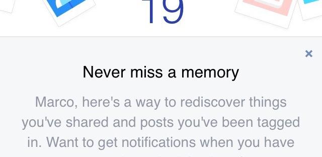 le memorie di facebook