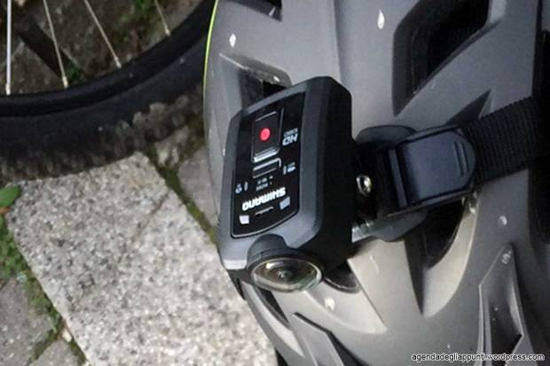 shimano action cam sul casco
