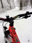 MTB al Campo dei Fiori con la neve fresca mountain bike snow ride varese monte mort