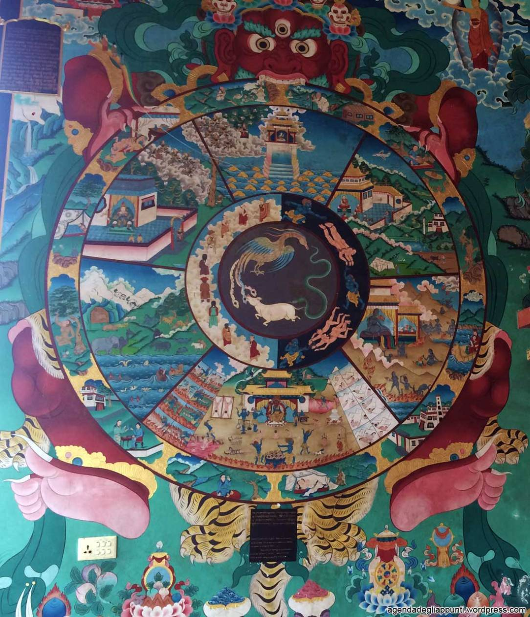 mandala in tibet cerchio del ciclo della vita life is what you make it nepal buddhismo