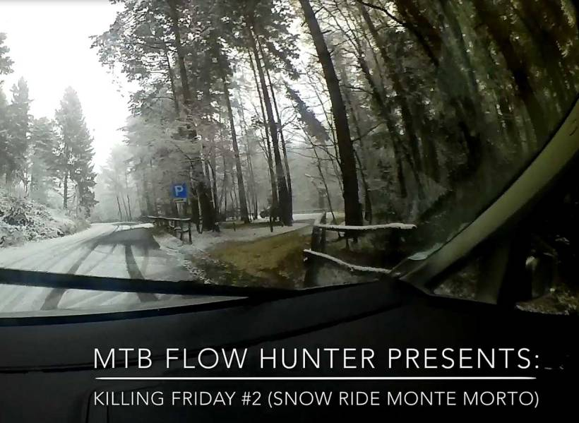 MTB Snow Ride Monte Morto Varese mountain bike campo dei fiori bicicletta sport outdoor commencal bikes go pro shimano action camera