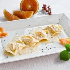 ravioli all'arancia primi piatti cucina creativa menù terrazza manzotti chef mauro civiero