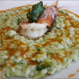 risotto agli scampi primi piatti cucina tradizionale menù terrazza manzotti chef mauro civiero