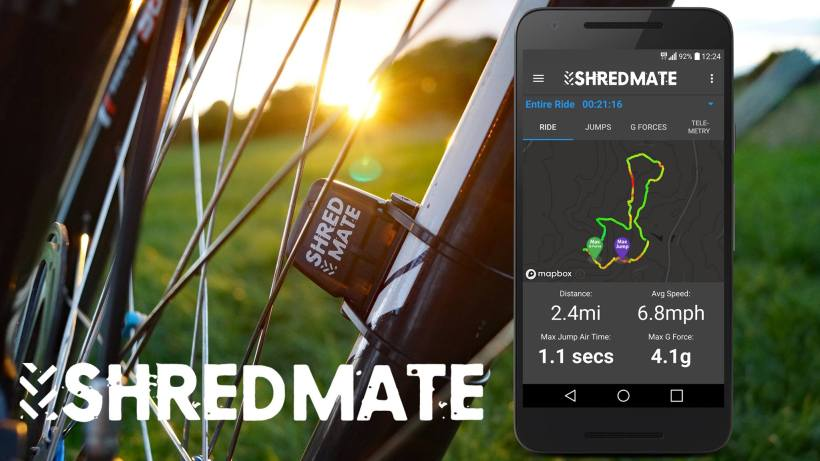 shred mate sensore mtb salti traccia g-spot sensor jumps mountain bike kickstarter