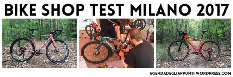 agenda degli appunti al bike shop test di milano malpensa per provare le gravel bike specialized titici cannondale