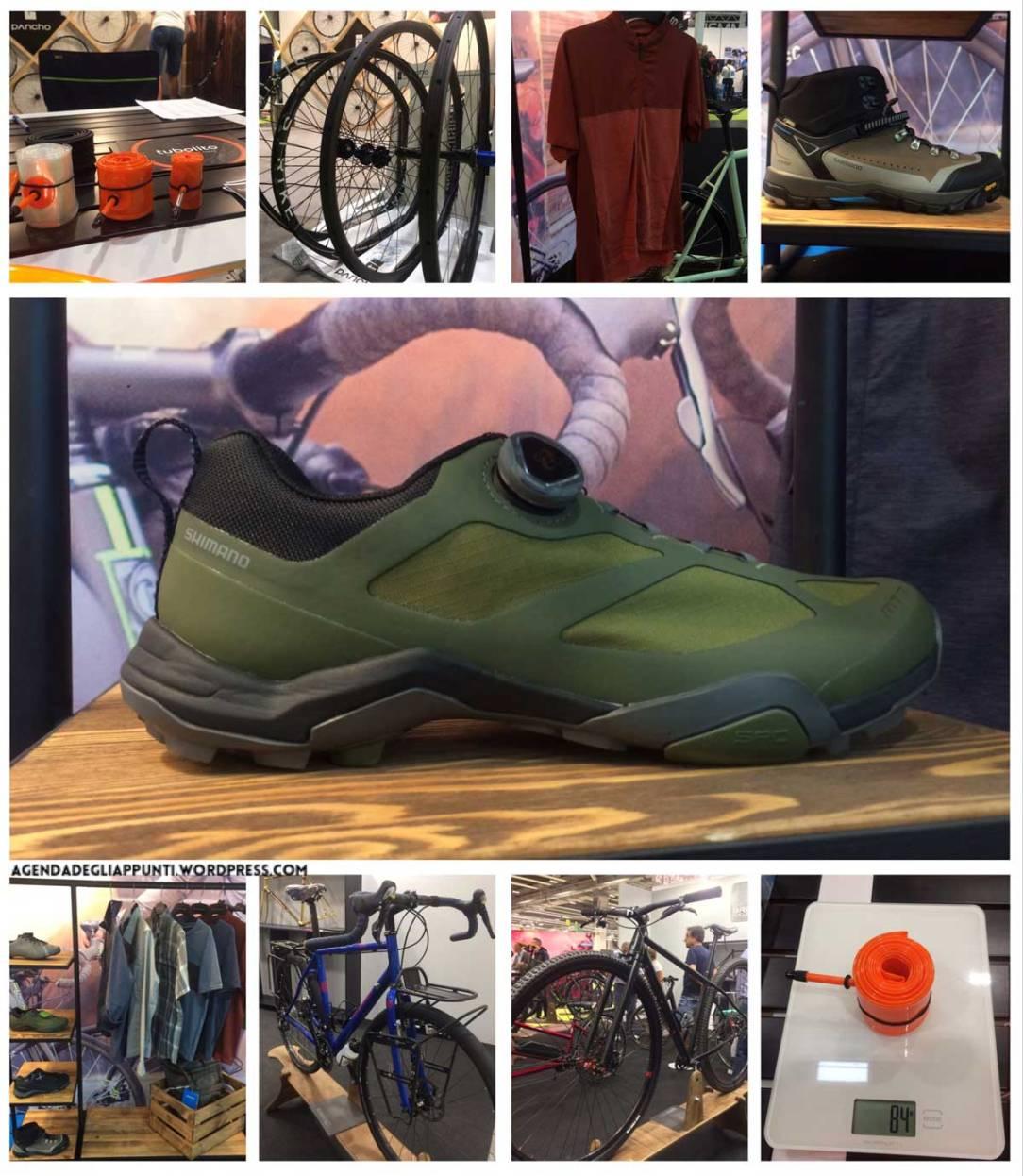 report cosmo bike show verona visita agli stand shimano components abbigliamento scarpe tubolito camere d'aria bressan bike pancho wheels ruote mtb custom customizzato personalizzato