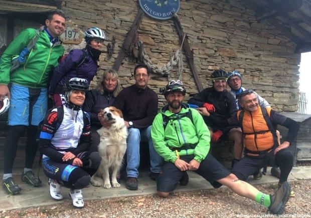escursione in mountain bike al rifugio barfè