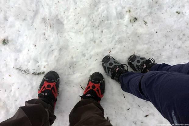 trekking con ramponi da neve sul monte bollettone anello alpe del vicerè e capanna carla
