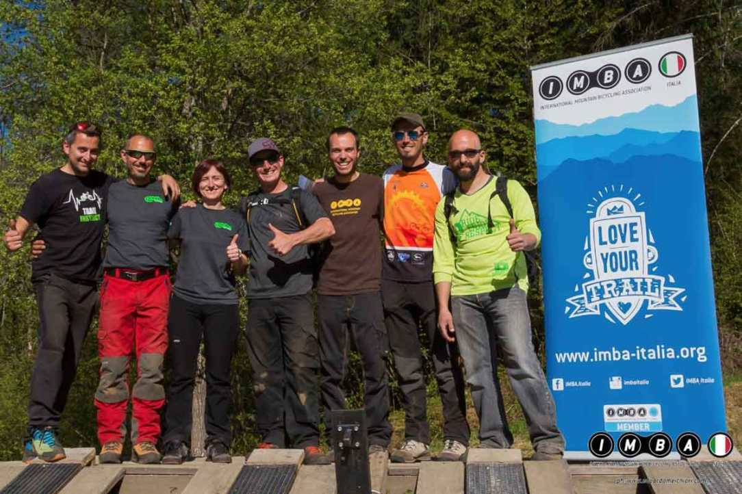 trail building school commezzadura val di sole bike