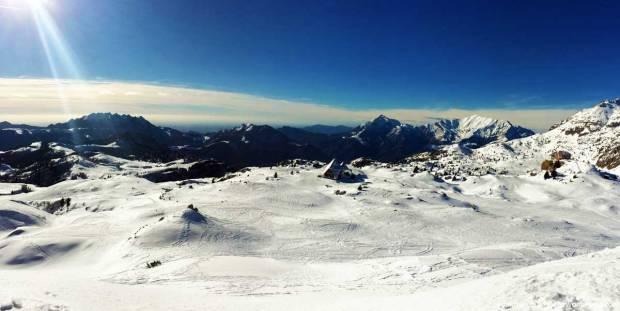 trekking con le ciaspole ai piani di artavaggio rifugio cazzaniga merlini neve fresca
