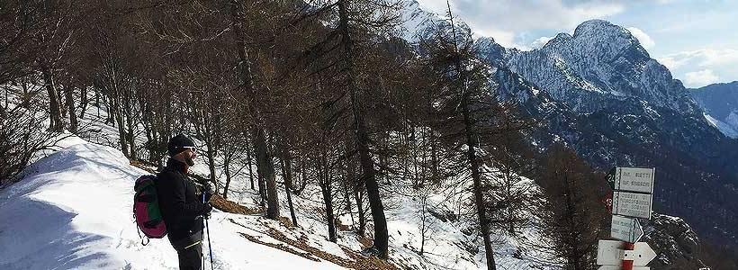 escursione a piedi alpe cainallo rifugio bietti buzzi neve