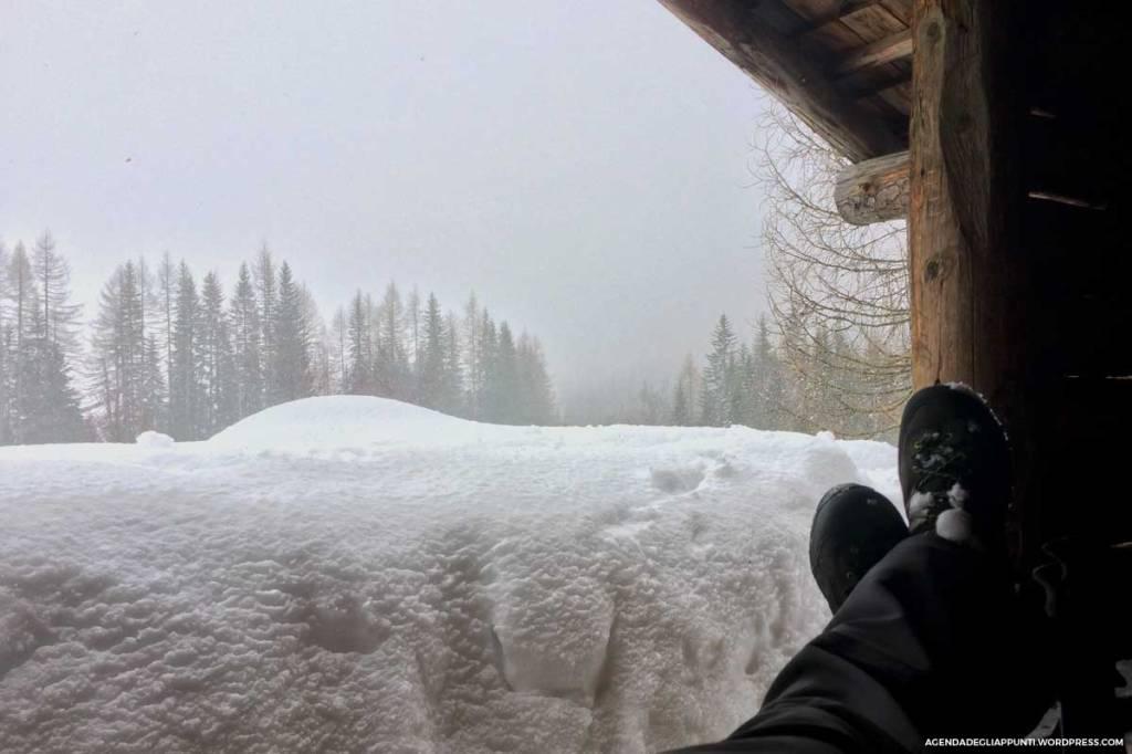 sentiero cascata pisciadu corvara val badia neve north face