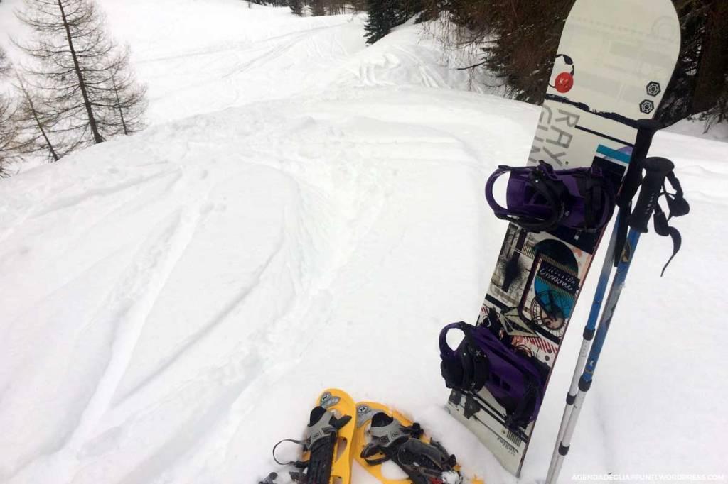 ciaspole snowboard montagna neve fresca freeride val badia corvara colfosco