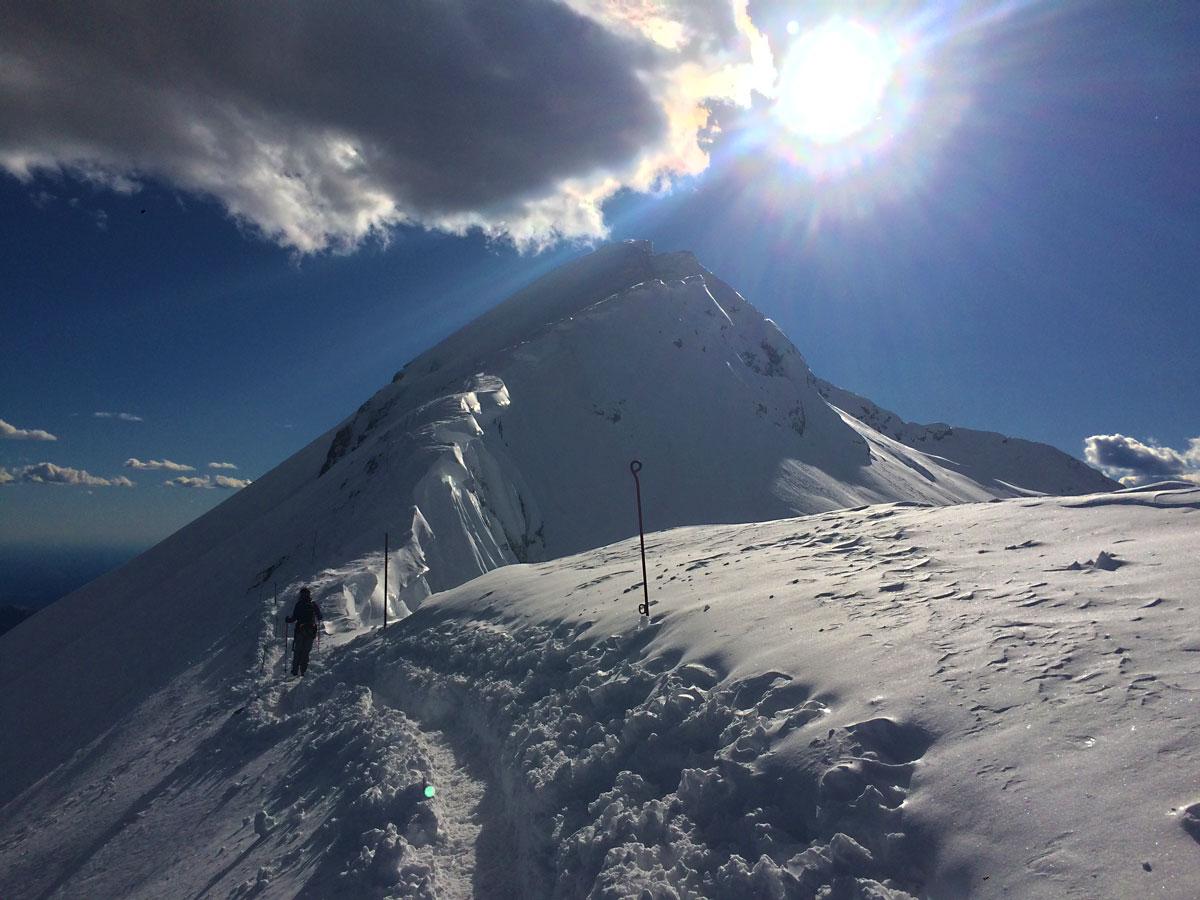 escursione invernale ascesa rifugio brioschi vetta grigna settentrionale muro del pianto