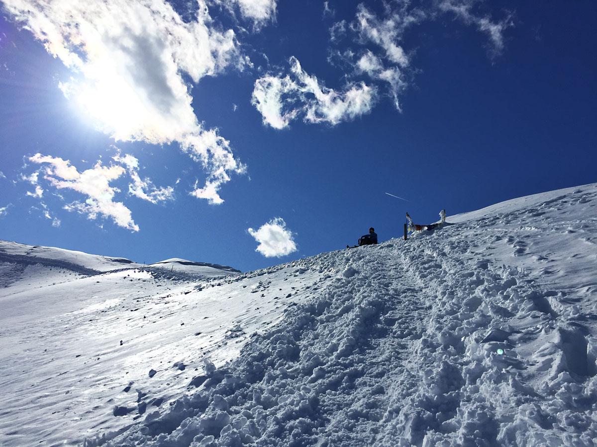 muro del pianto escursione invernale rifugio brioschi vetta grigna settentrionale