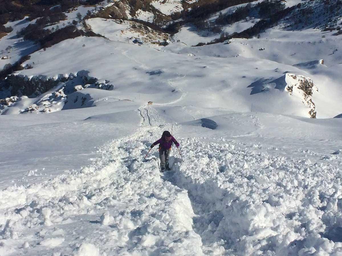 ascesa invernale rifugio brioschi muro del pianto grigna settentrionale