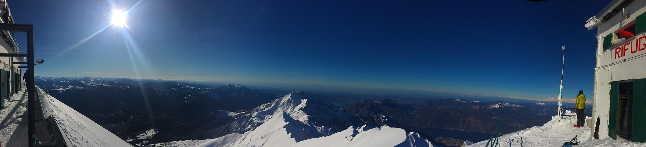 panoramica rifugio brioschi invernale vetta grigna settentrionale