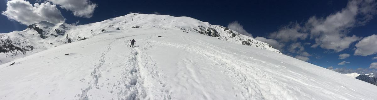 muro del pianto ascesa invernale rifugio brioschi vetta grigna settentrionale