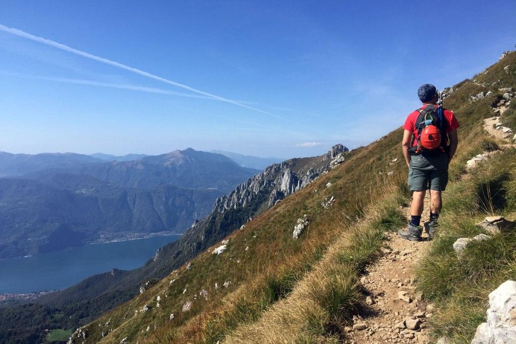 direttissima grigna meridionale sentiero escursionisti esperti attrezzato trekking escursioni gruppo delle grigne