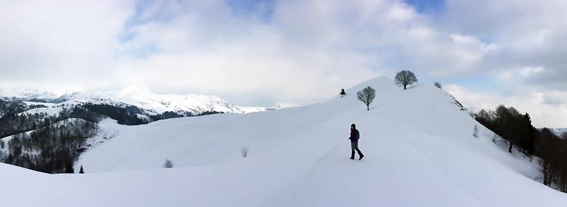 trekking neve passo culmine di san pietro piani di artavaggio ciaspole