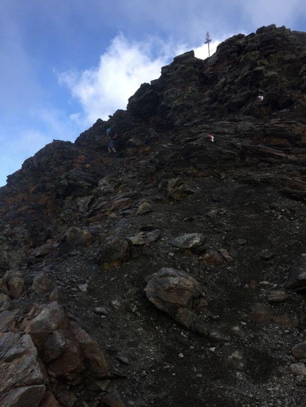 l'antevetta del monte legnone, dove la cresta nord e ovest si congiungono