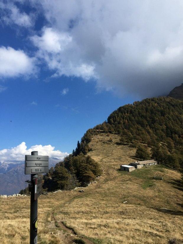 alpe agogno lungo l'ascesa verso la vetta del monte legnone