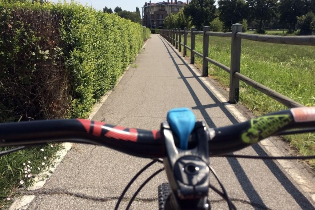 in bicicletta da milano al fiume adda