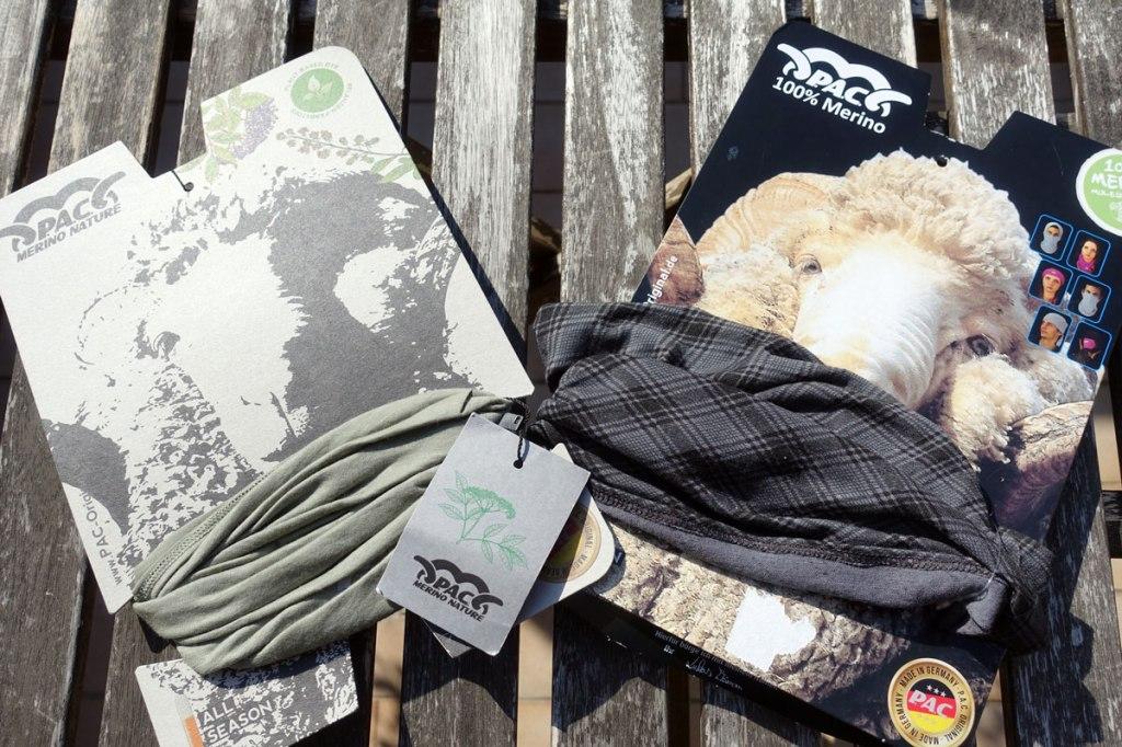 fascia multiuso pac original lana merino per le escursioni in montagna e per l'inverno in città