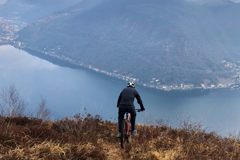 equilibrio mountain bike lago di lugano valceresio punta paradiso mtb