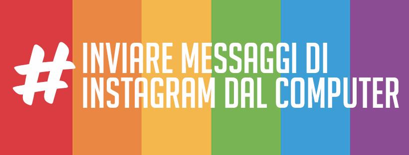 immagine di copertina con sfondo arcobaleno e scritta bianca instagram