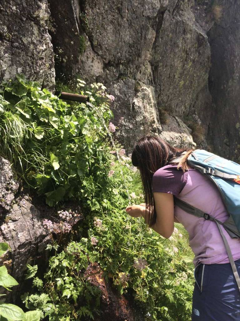 in foto una presa naturale lungo un sentiero delle orobie bergamasche
