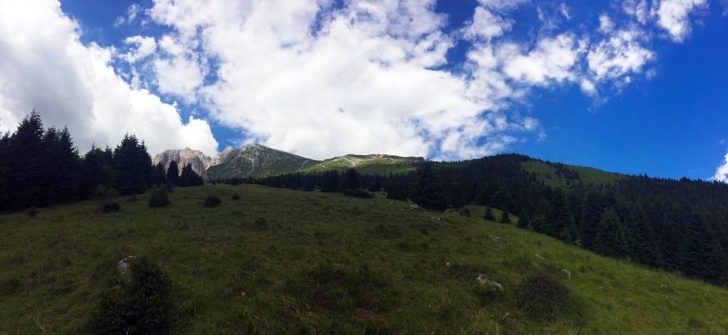 il monte Visolo visto dal basso