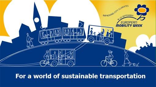 illustrazione settimana europea della mobilità sostenibile