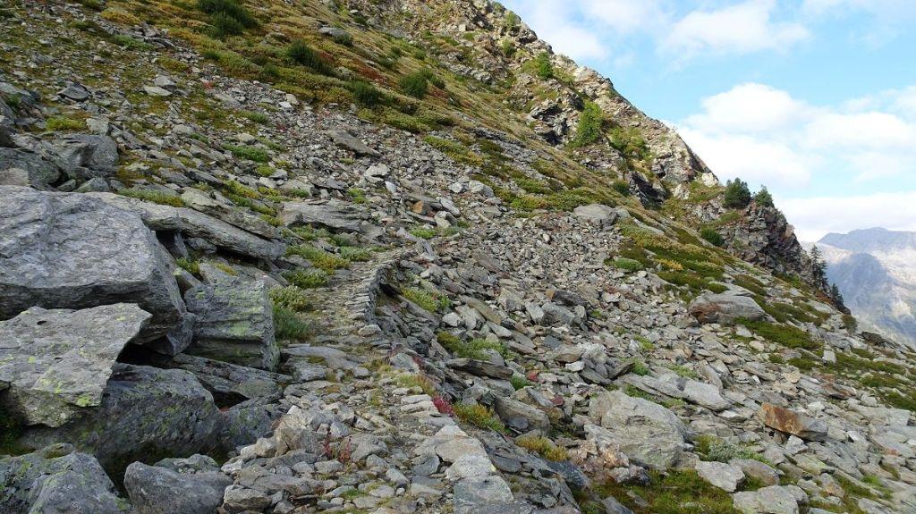 sentiero militare di montagna