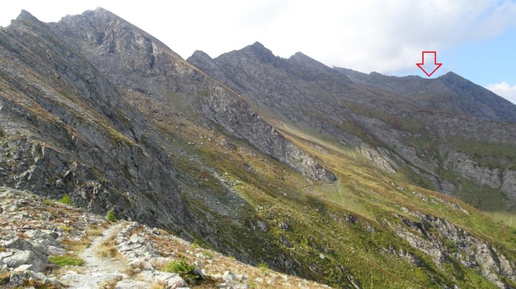 panorama con montagne e un sentiero in primo piano